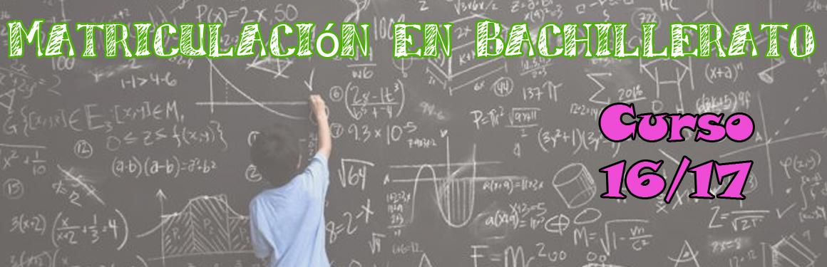 matriculacion bach