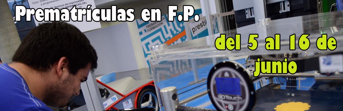 prematriculas en FP