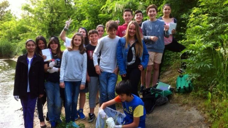"""Nuestro """"comité ambiental"""" participando en el proyecto Ibaialde"""