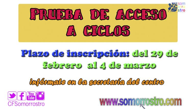 Prueba de Acceso a Ciclos Formativos 2016