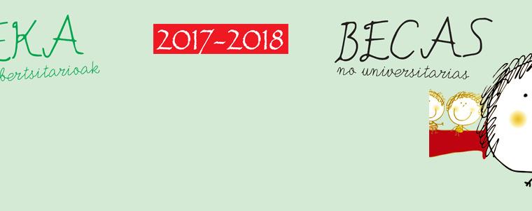 Becas para el curso 2017/2018