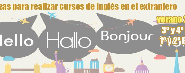 Plazas para la realización de cursos de inglés en el extranjero