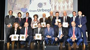 Reconocimiento al C. F. Somorrostro en el 15º aniversario del grupo Urbegi