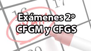 Calendario de exámenes de 2º de ciclos para mañana