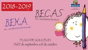 Abierto el plazo de solicitud de BECAS para el curso 2018/2019