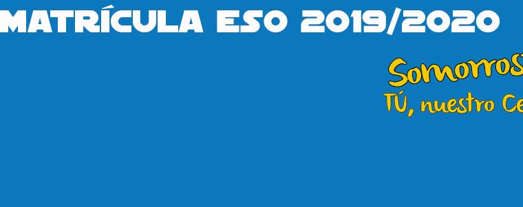 Solicitud de matrícula ESO 2019/2020