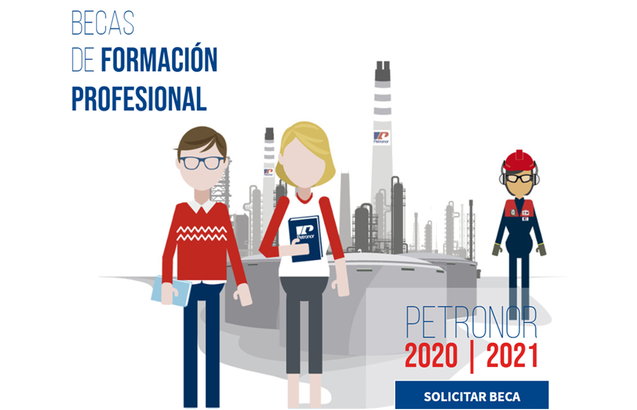Nueva convocatoria de BECAS Petronor para estudiar FP
