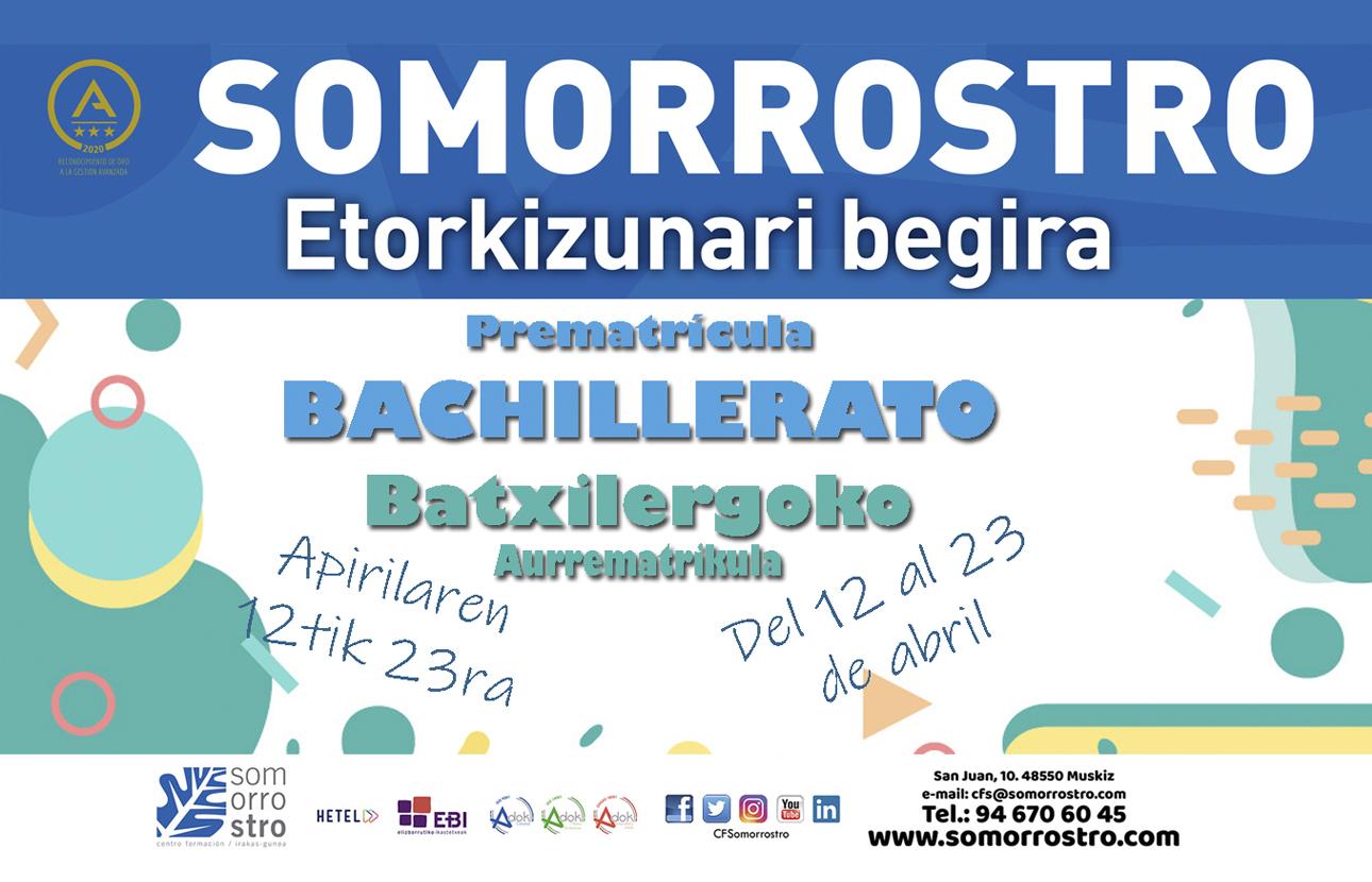 Bachillerato Registration Calendar