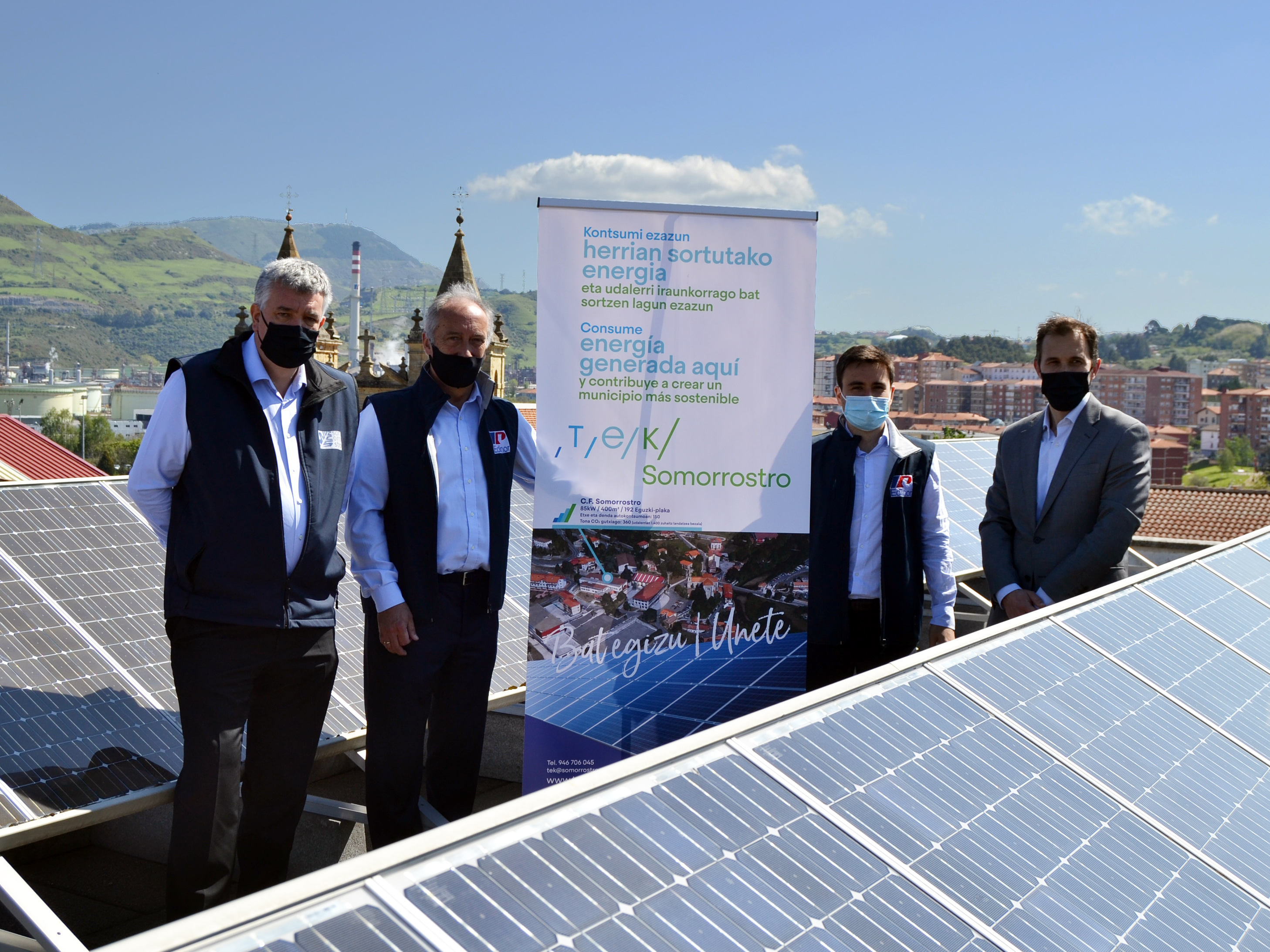 El Centro de Formación Somorrostro y Edinor lanzan la primera Comunidad Energética Escolar en Euskadi
